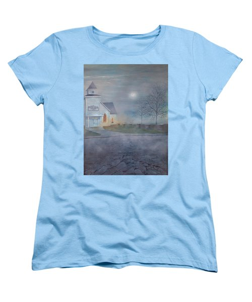 Through The Fog Women's T-Shirt (Standard Cut) by T Fry-Green