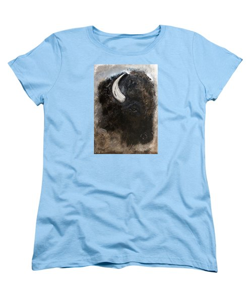 Women's T-Shirt (Standard Cut) featuring the painting Thunder Medicine Cloud by Barbie Batson