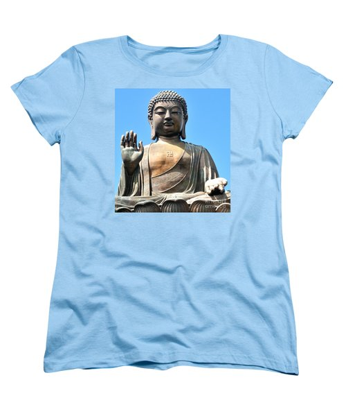 Tian Tan Buddha Women's T-Shirt (Standard Cut) by Joe  Ng