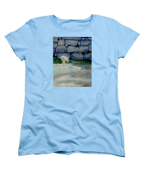 Women's T-Shirt (Standard Cut) featuring the painting Tidal Pool Treasures by Anthony Ross