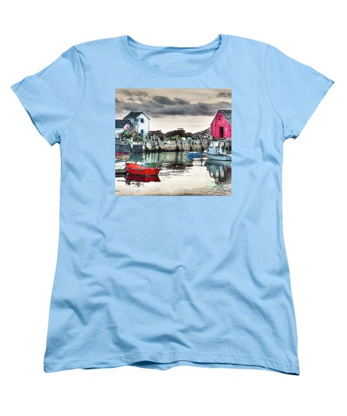 Tide's Out Women's T-Shirt (Standard Cut) by Tom Cameron
