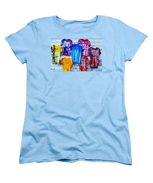 Women's T-Shirt (Standard Cut) featuring the photograph Grateful Dead Tie Dye by Susan Carella