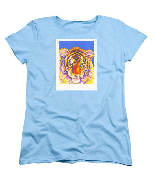 Women's T-Shirt (Standard Cut) featuring the painting Tiger by Stephen Anderson