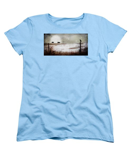 Women's T-Shirt (Standard Cut) featuring the photograph 'til The Cows Come Home by Theresa Tahara