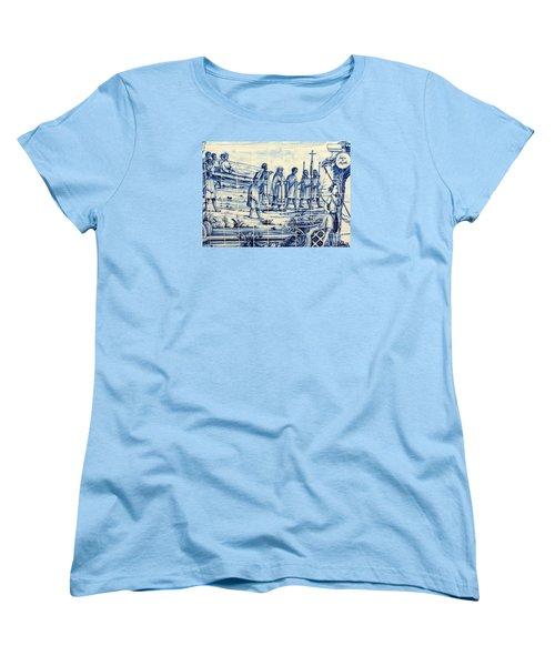 Tile Art Angola Women's T-Shirt (Standard Cut) by John Potts