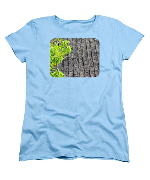 Women's T-Shirt (Standard Cut) featuring the photograph Tiled Roof by Ethna Gillespie