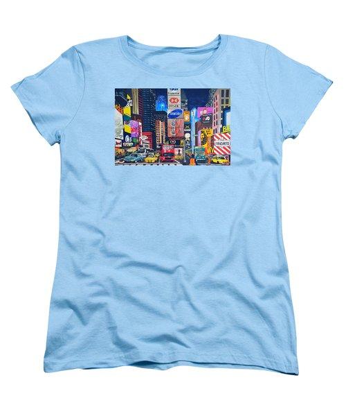 Times Square Women's T-Shirt (Standard Cut) by Autumn Leaves Art