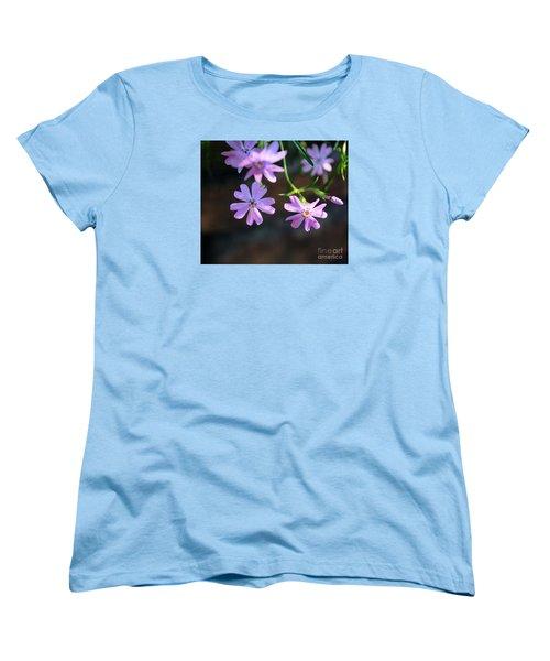 Tiny Pink Flowers Women's T-Shirt (Standard Cut) by John S
