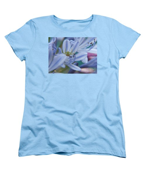 Women's T-Shirt (Standard Cut) featuring the photograph Tiny Spider by Trena Mara
