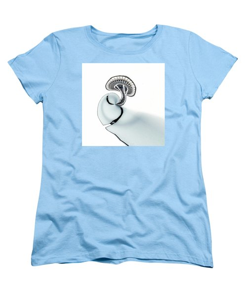 Women's T-Shirt (Standard Cut) featuring the photograph Tinyplanet Space Needle by Wade Brooks