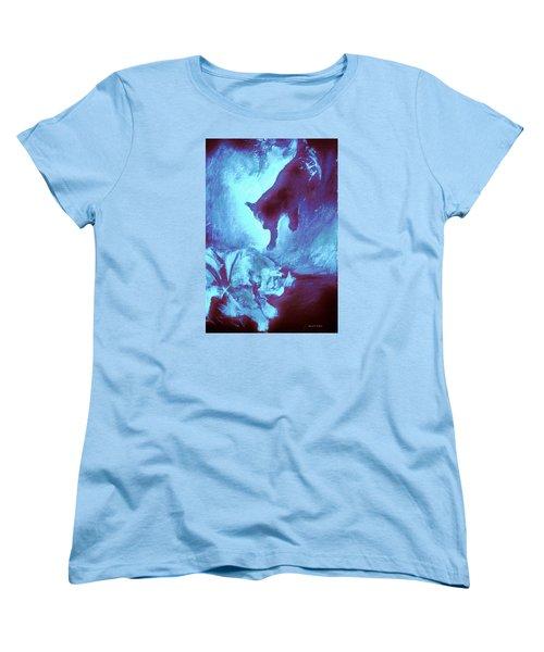 Tip Toeing On Little Cat Feet Women's T-Shirt (Standard Cut) by Denise Fulmer