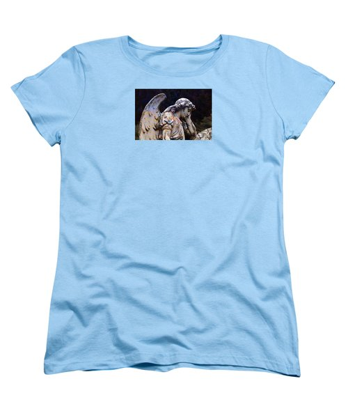 Tired Angel Women's T-Shirt (Standard Cut) by Nareeta Martin