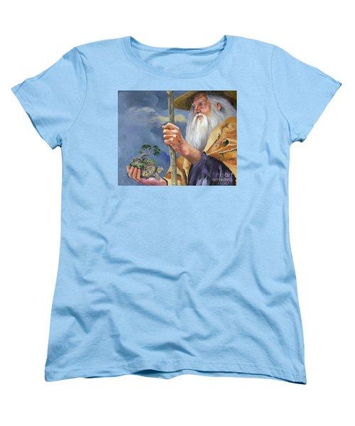 To Hold The World In The Palm Of Your Hand Women's T-Shirt (Standard Cut) by J W Baker