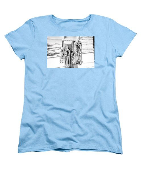 To Sail Or Knot Women's T-Shirt (Standard Cut) by Greg Fortier