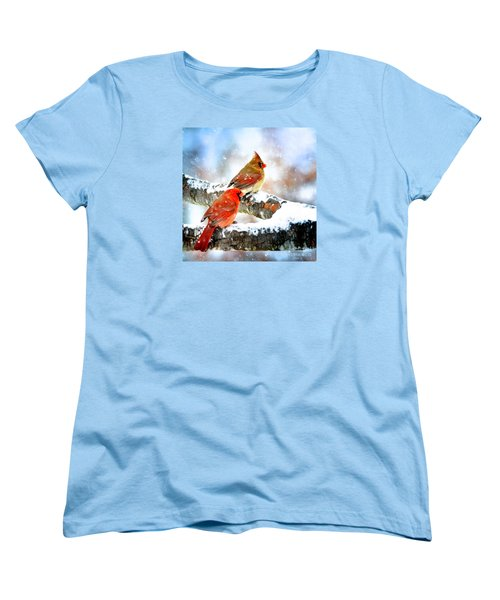 Together In The Snow Women's T-Shirt (Standard Cut) by Nava Thompson