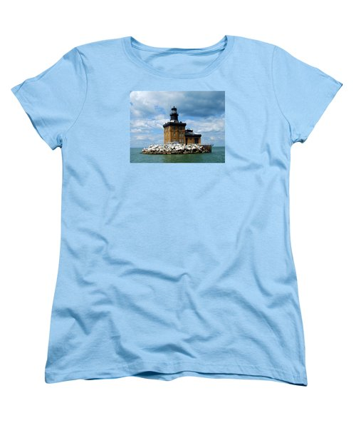 Women's T-Shirt (Standard Cut) featuring the photograph Toledo Harbor Lighthouse by Michiale Schneider