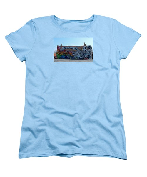 Women's T-Shirt (Standard Cut) featuring the photograph Toledo Loves Love by Michiale Schneider