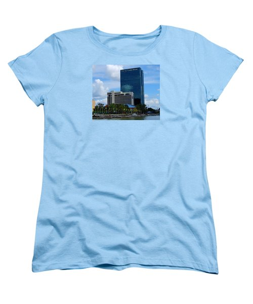 Women's T-Shirt (Standard Cut) featuring the photograph Toledo's Waterfront I by Michiale Schneider