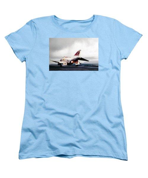 Women's T-Shirt (Standard Cut) featuring the digital art Tomcatter Launch by Peter Chilelli