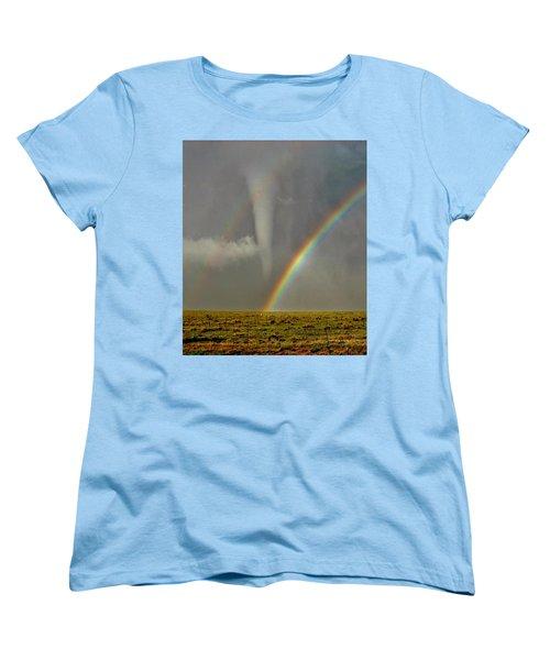 Tornado And The Rainbow II  Women's T-Shirt (Standard Cut) by Ed Sweeney