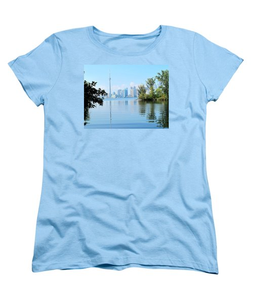 Toronto From The Islands Park Women's T-Shirt (Standard Cut) by Ian  MacDonald