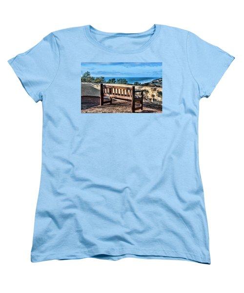 Torrey Pines View Women's T-Shirt (Standard Cut) by Daniel Hebard