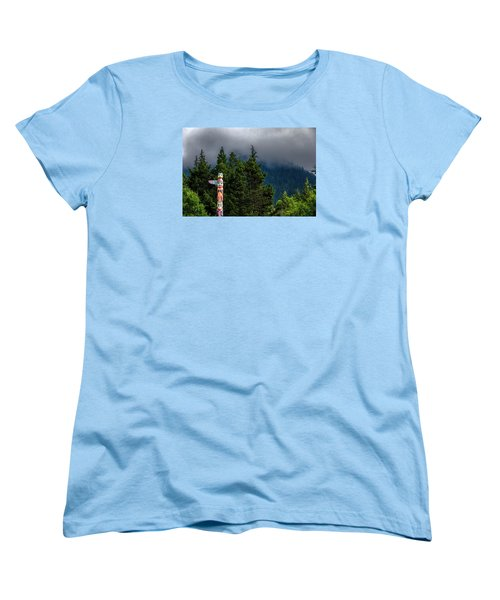 Women's T-Shirt (Standard Cut) featuring the photograph Totem Pole by Lewis Mann