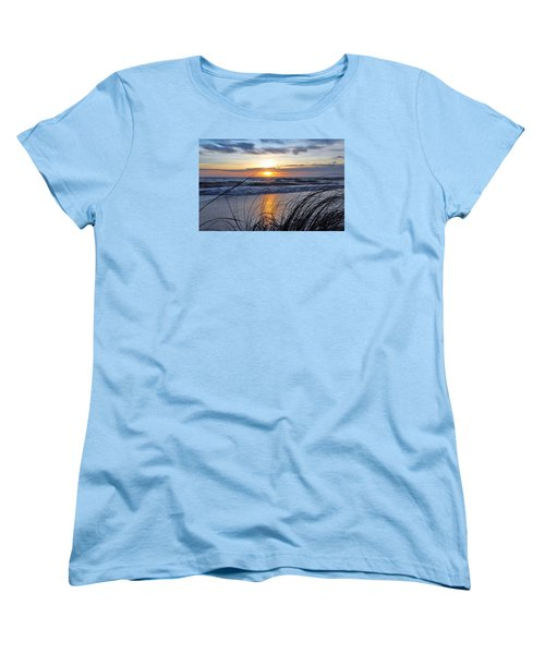 Women's T-Shirt (Standard Cut) featuring the photograph Touching The Sunset by Kicking Bear Productions