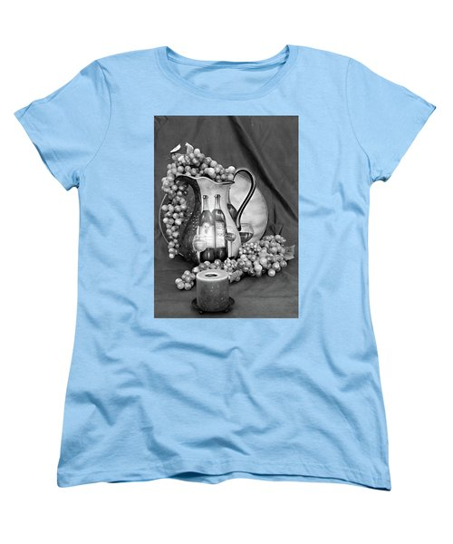 Women's T-Shirt (Standard Cut) featuring the photograph Tour Of Italy In Black And White by Sherry Hallemeier