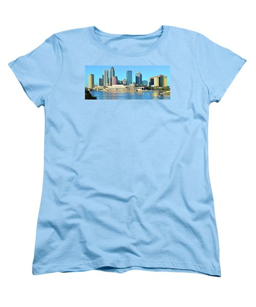 Women's T-Shirt (Standard Cut) featuring the photograph Towers By The Bay by Frozen in Time Fine Art Photography