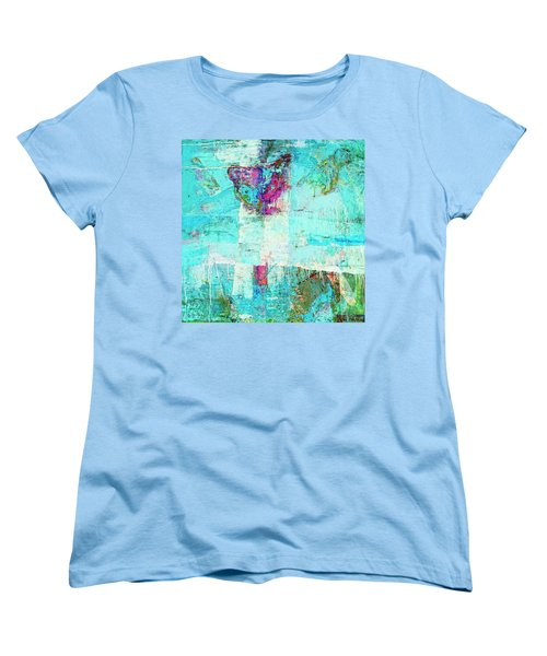 Women's T-Shirt (Standard Cut) featuring the painting Towers by Dominic Piperata