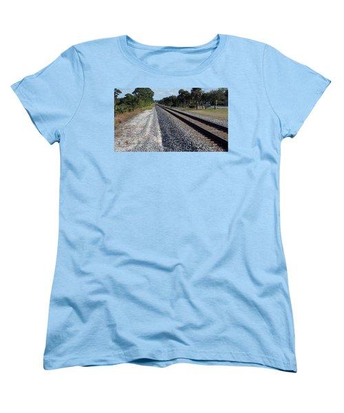 Tracks Hobe Sound, Fl Women's T-Shirt (Standard Cut) by John Wartman