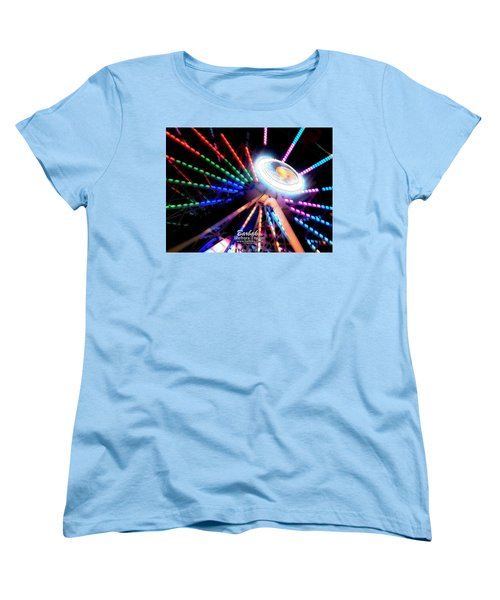 Trail Of Lights Abstract #7486 Women's T-Shirt (Standard Cut) by Barbara Tristan