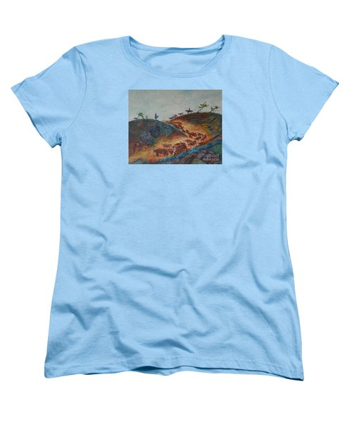 Trailin' Em Down Women's T-Shirt (Standard Cut) by Willoughby Senior and Dawn Senior-Trask