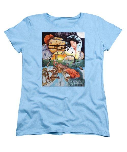 Trampas Del Tiempo Women's T-Shirt (Standard Cut) by Jorge L Martinez Camilleri