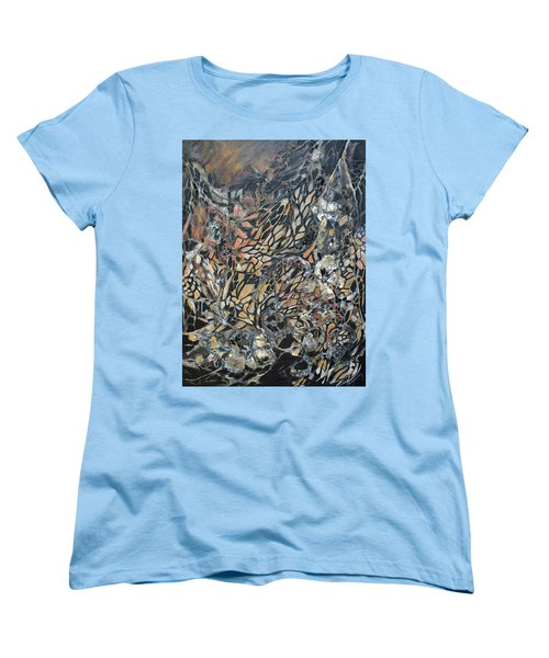 Women's T-Shirt (Standard Cut) featuring the mixed media Transformation by Joanne Smoley