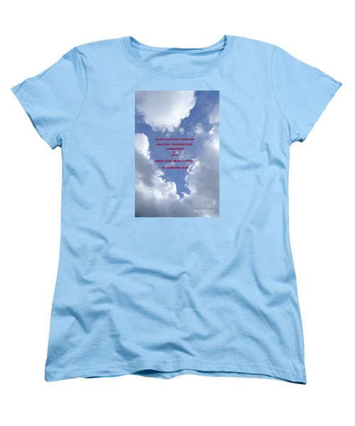 Transmit Compassion And Love Women's T-Shirt (Standard Cut) by Nora Boghossian