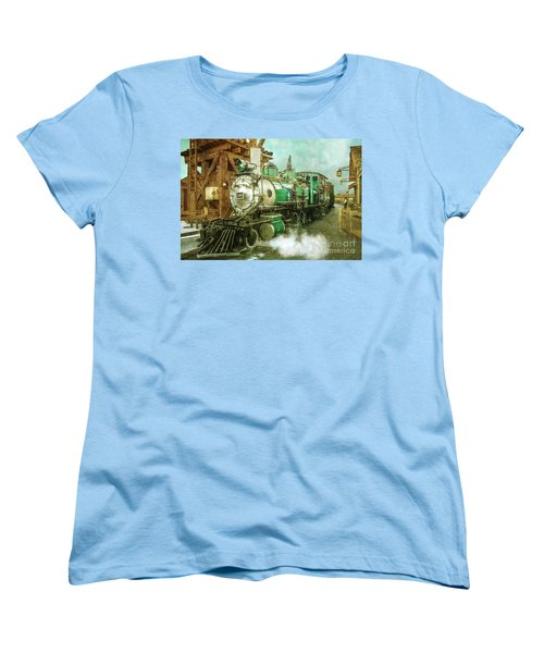 Traveling By Train Women's T-Shirt (Standard Cut) by Claudia Ellis