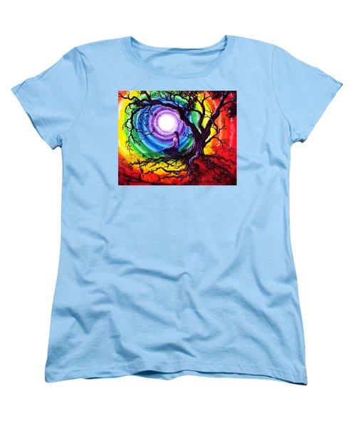Tree Of Life Meditation Women's T-Shirt (Standard Cut) by Laura Iverson