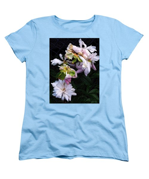 Tree Peony Women's T-Shirt (Standard Cut) by Alexis Rotella