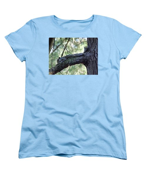 Women's T-Shirt (Standard Cut) featuring the photograph  Tree Squirrel by B Wayne Mullins
