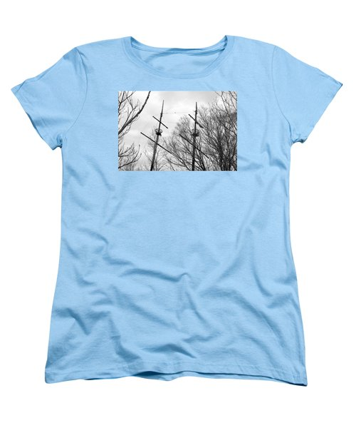 Women's T-Shirt (Standard Cut) featuring the photograph Tree Types by Valentino Visentini