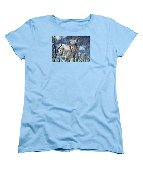 Women's T-Shirt (Standard Cut) featuring the photograph Trees And Clouds by Valentino Visentini