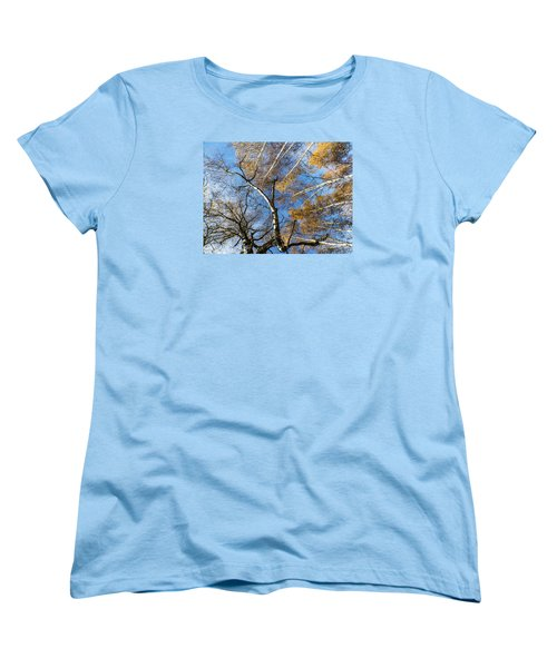 Trees Grow To The Sky Women's T-Shirt (Standard Cut) by Odon Czintos