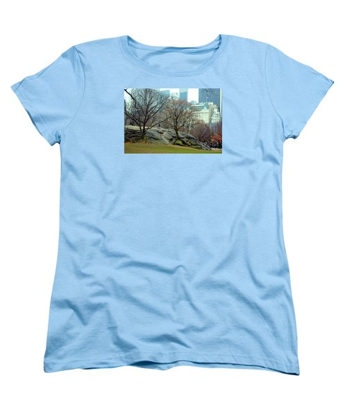 Women's T-Shirt (Standard Cut) featuring the photograph Trees In Rock by Sandy Moulder