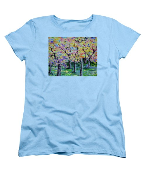 Trees On Hideaway Ct Women's T-Shirt (Standard Cut) by Lisa Rose Musselwhite