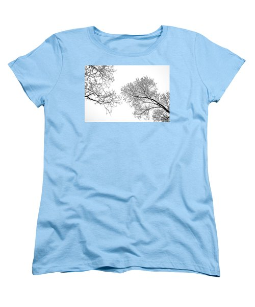 Women's T-Shirt (Standard Cut) featuring the photograph Trees Reaching by Marilyn Hunt