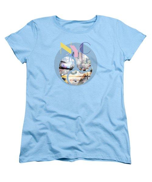 Trendy Design New York City Geometric Mix No 1 Women's T-Shirt (Standard Cut) by Melanie Viola