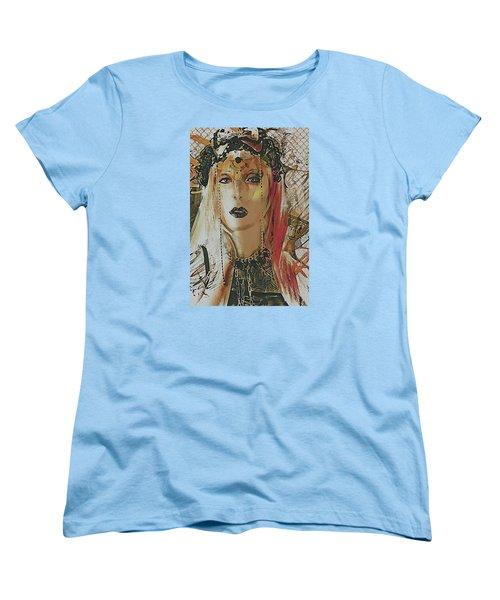 Women's T-Shirt (Standard Cut) featuring the digital art Tribal Rust Portrait by Galen Valle