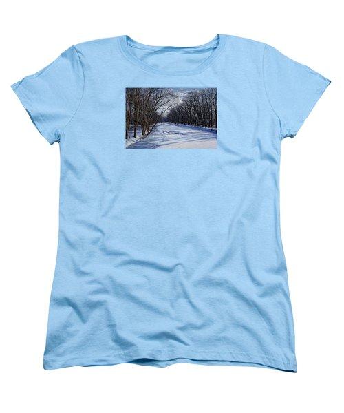 Tributary Women's T-Shirt (Standard Cut) by John Gilbert